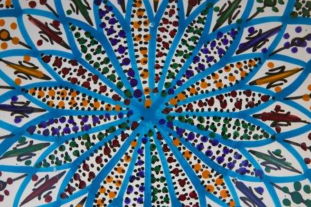tunisian: Traditional Tunisian handmade plate -background