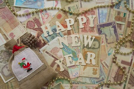 new years day: New Years Day money background
