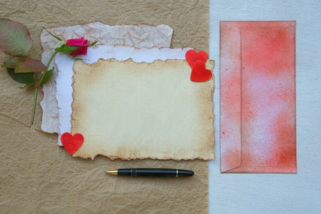Valentines Day background. Free space for a text Stock Photo