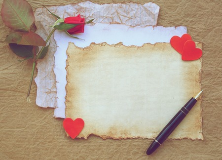 Valentines Day background. Vintage style. Free space for a text