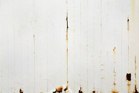 rusted background: White rusted fence - background