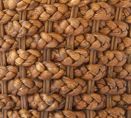 wicker work: Woven basket - background