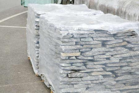 cladding: Decorative stone for cladding Stock Photo