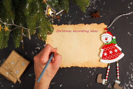 text free space: Christmas decorating ideas. Free space for a text Stock Photo