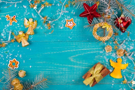 text free space: Winter holidays background. Free space for a text Stock Photo