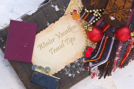 winter vacation: Winter vacation travel tips. Background