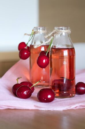 compote: Homemade cherry compote. Stock Photo