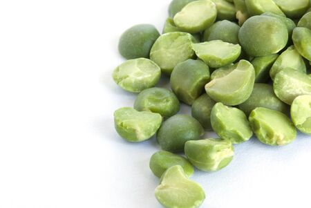 muscle fiber: Dried green peas isolated over white.Closeup