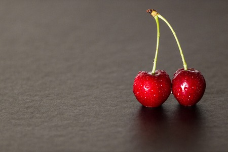 red cherries with dripping