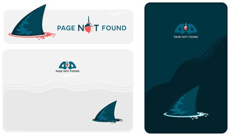 404 Page not Found. Shark Fin Vector