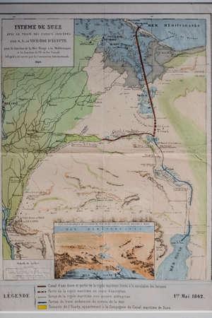 Suez Ism Map, fundacion casa de Alba, Burgos, Spain