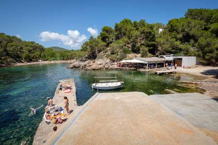 El whiskers restaurant, Cala Mastella, Sant Carles, Santa Eulària des Riu Municipality, Ibiza, balearic islands, Spain