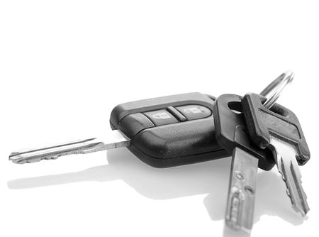 Car Key, Mul-T-Lock, Thule trunk keys. With shadow and path Stock Photo - 4573162