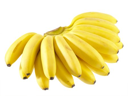 Bunch of Bananas. Isolated on white with path Stock Photo - 4573143