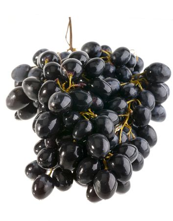 noire: wet grape on white background