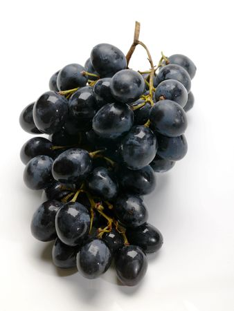 noire: grape on white wet background Stock Photo