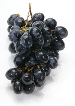 noire: grape on white wet background Stock Photo
