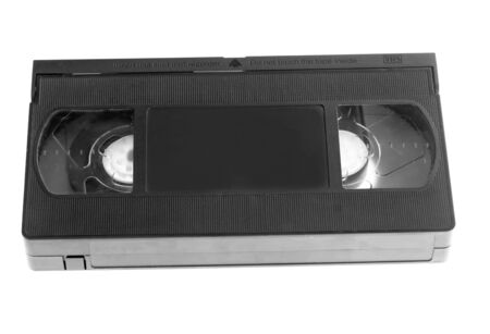 analogue: Video Tape on white background