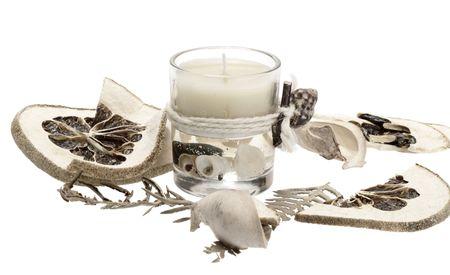 cidra: Cuarto de ba�o vela con aroma lim�n Foto de archivo
