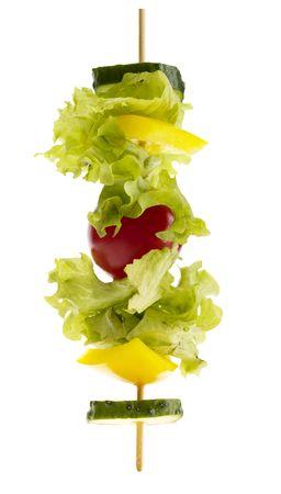 vegetarian kebab.  Stock Photo