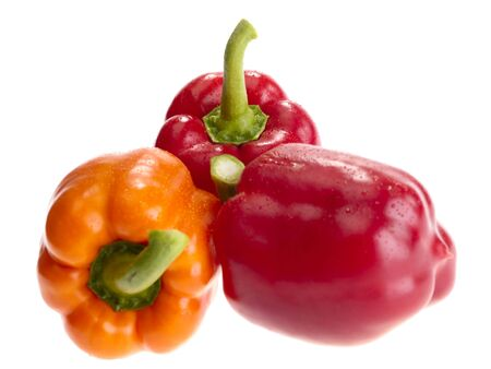 fresh tasty peppers on white background. Stock Photo - 4879171