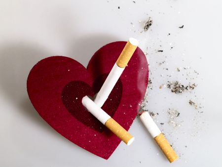 No Smoking! Cigarettes are death for your heart. No smoking concept Stock Photo - 5050341