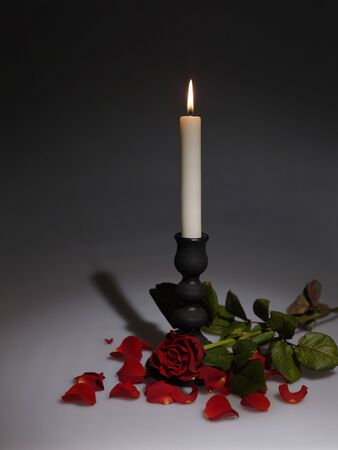 Holidays still-life with candle photo