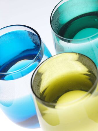 Still life with color glasses and mineral water. Is not isolated Stock Photo - 6109687