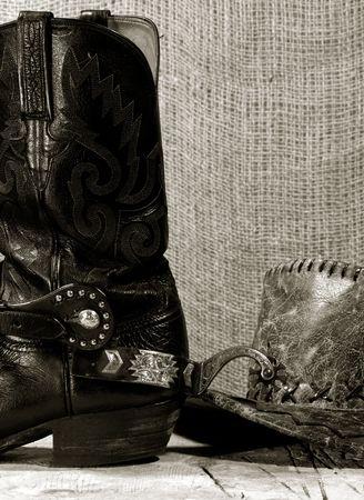 stetson: Western cowboy still life on the desk
