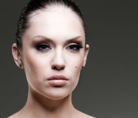 Makeup and glamour. Young attractive woman studio portrait. Stock Photo - 6561770