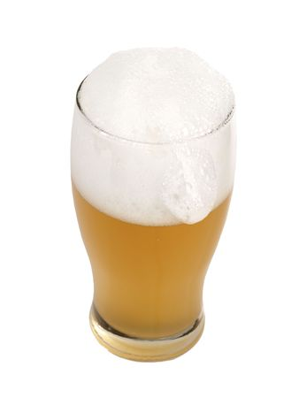 Beer mug with froth, isolated on white Stock Photo - 6759592