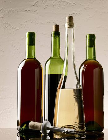 winery still life on the glass with red and white wine Stock Photo - 6964334
