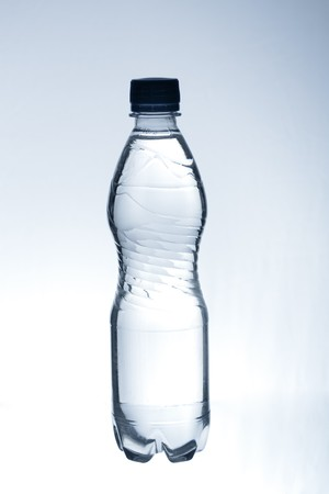 purified spring water in the bottle photo