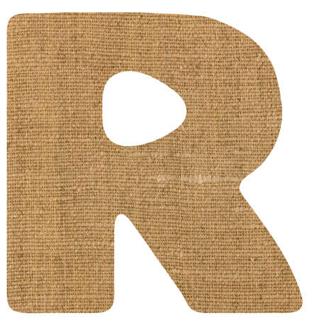 sackcloth: kiddy letters from  sackcloth background alphabet