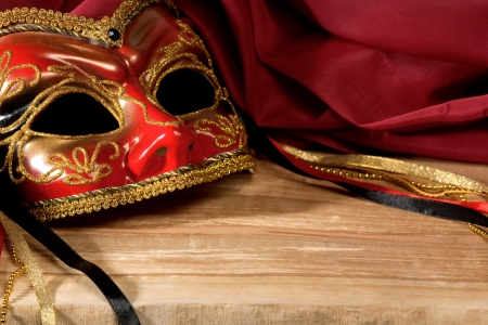 masque: Still life with Venetian carnival mask.
