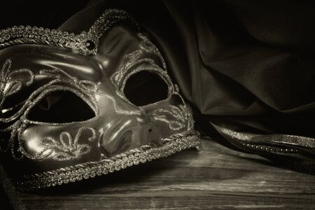 Still life with Venetian carnival mask.  photo