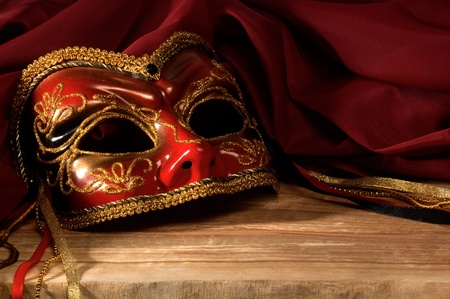 venetian mask: Still life with Venetian carnival mask.