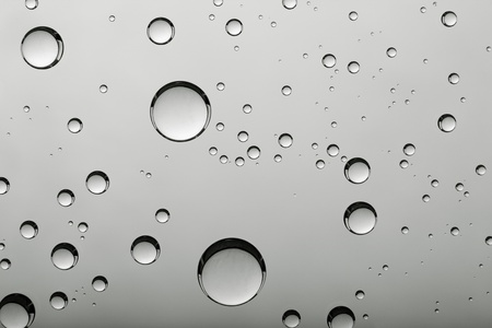 grey water: abstract backgrounds with water bubbles Stock Photo