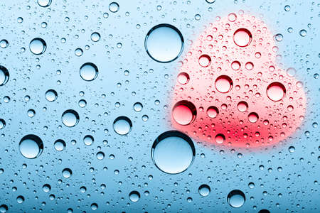 abstract backgrounds with water bubbles and heart shape Stock Photo - 12327745