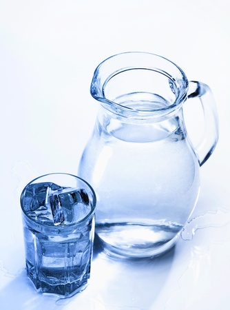 Spring fresh water in the glass with ice cubes Stock Photo - 12881074