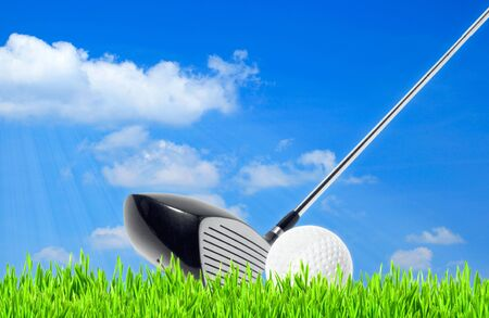 golf, abstract sport backgrounds against the blue skies photo