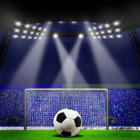 On the stadium. abstract football or soccer backgrounds photo
