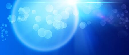 bunner: Abstract art backgrounds over blue Stock Photo