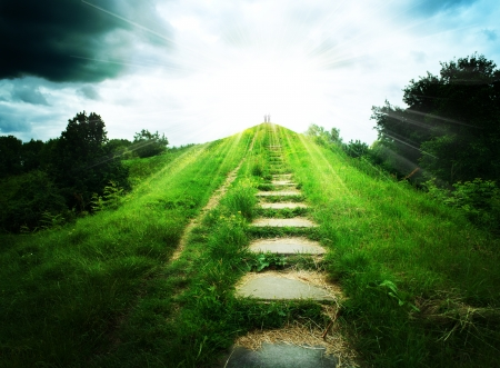 Stairs to heaven  Abstract natural backgrounds Stock Photo