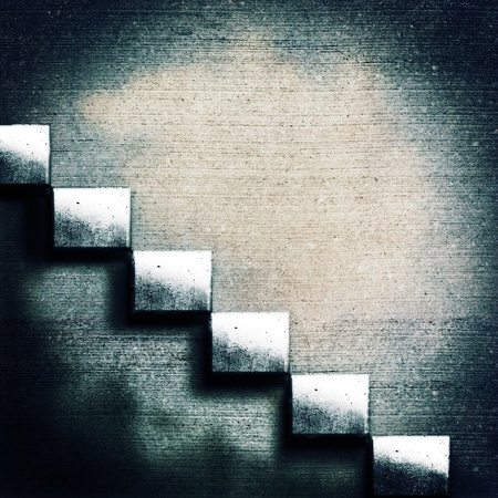 Abstract concrete stairs. Grunge architecture backgrounds photo
