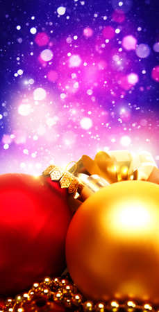 Xmas decorations with beauty bokeh, abstract backgrounds photo