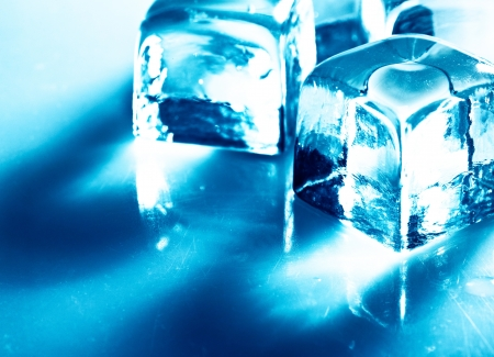 Ice. Abstract still life over blue backgrounds Stock Photo - 14446436