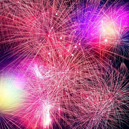 Fireworks. Abstract holidays backgrounds photo