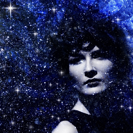 Star dust. Abstract female portrait Stock Photo - 14560526