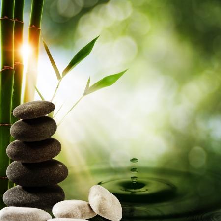 armonia: Oriental fondos eco con el chapoteo de bamb� y agua